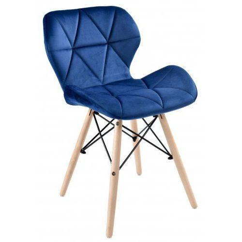 Krzeslaihokery Krzesło axel velvet aksamit granatowe