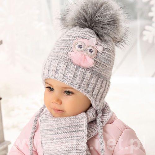 Komplet 38-412 czapka+szalik rozmiar: 40-42cm, kolor: wielokolorowy, ajs marki Ajs