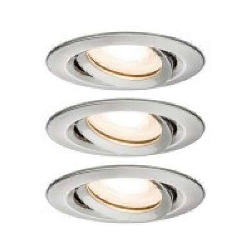 Oprawa wpuszczana LED Nova IP65 okrągła 7 W GU10 żelazna 3-częściowa, obrotowa, PAULMANN 92900