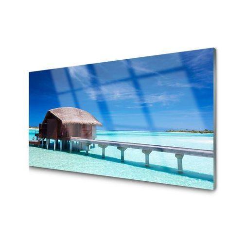 Obraz na Szkle Morze Plaża Dom Architektura