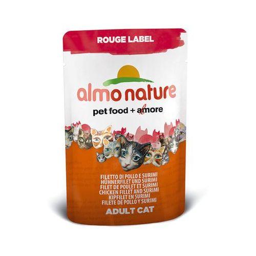 ALMO NATURE Rouge Label Cat Kurczak z surimi - saszetka 12x55g, kup u jednego z partnerów