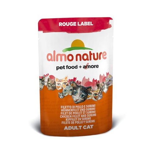 ALMO NATURE Rouge Label Kurczak z surimi - saszetka 12x55g