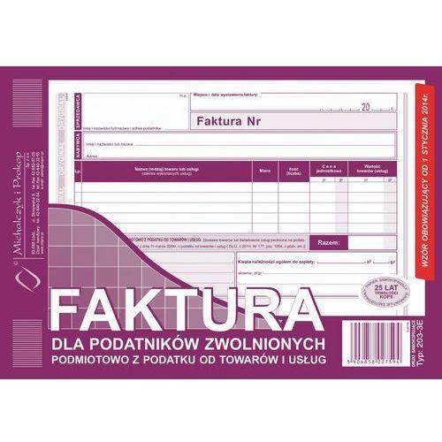 Michalczyk i prokop Faktura dla podat. zwol. podmiot. michalczyk&prokop 203-3e - a5 (oryginał+kopia)