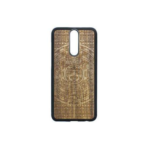 Huawei mate 10 lite - etui na telefon wood case - kalendarz aztecki - limba marki Etuo wood case