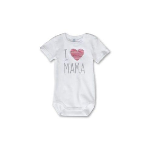 baby body z krótkim rękawem herz kolor biały marki Sanetta