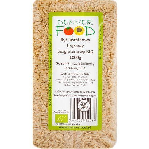 Denver food Ryż jaśminowy brązowy bezglutenowy bio 1 kg