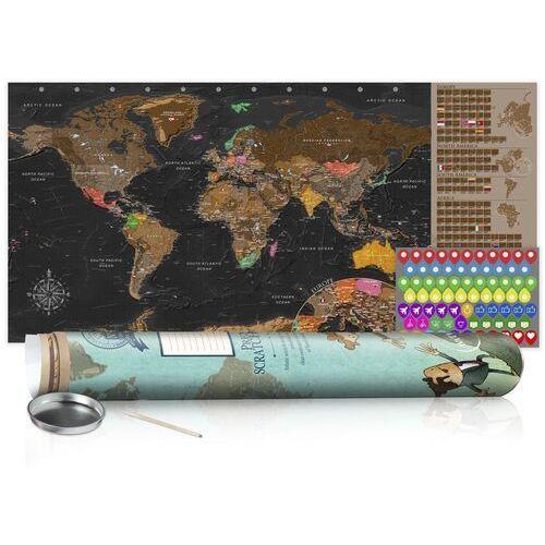 Mapa zdrapka - brązowa mapa - plakat (wersja angielska) marki Artgeist
