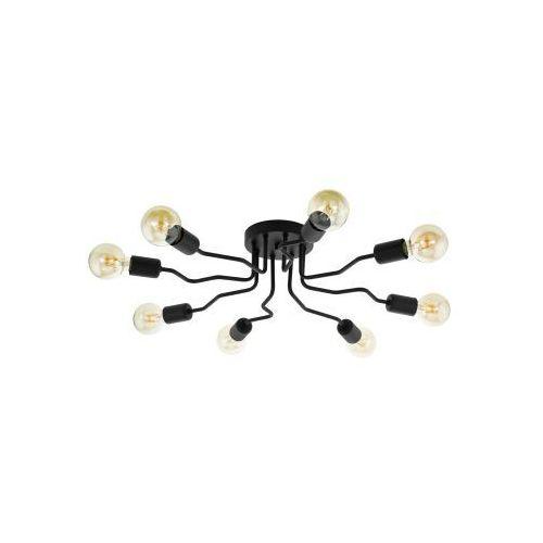 Eglo orazio 97985 plafon lampa sufitowa oprawa 8x40w e27 czarna (9002759979850)