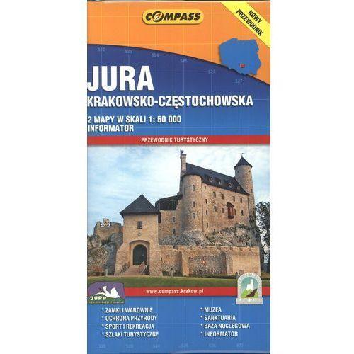 Jura Krakowsko Częstochowska 2 mapy + Przewodnik turystyczny, praca zbiorowa