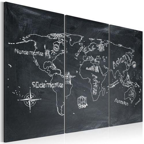 Artgeist Obraz - lekcja geografii (język niemiecki) - tryptyk