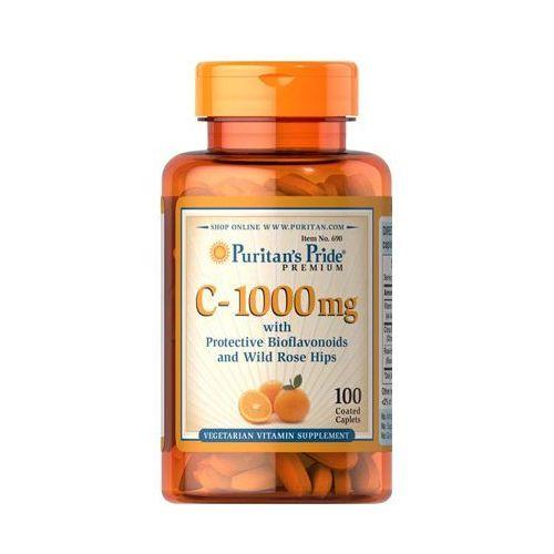 Puritan's Pride Witamina C 1000mg + bioflawonoidy cytrusowe oraz dzika róża 100 tabl., postać leku: tabletki