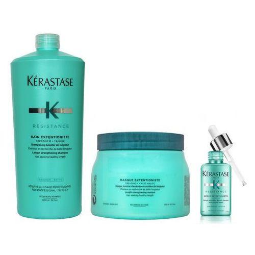 Kerastase Resistance Extentioniste | Zestaw wzmacniający do włosów długich: kąpiel 1000ml + maska 500ml + serum 50ml