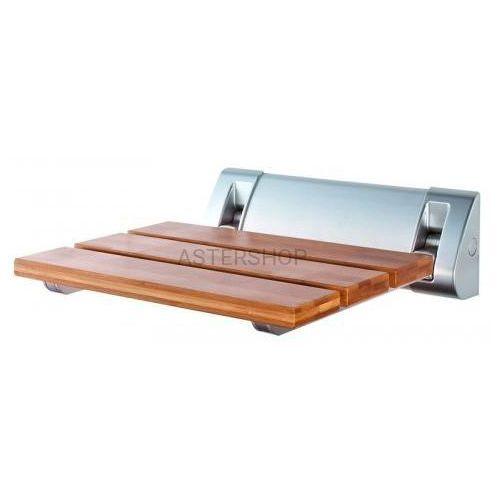 Siedzisko prysznicowe 32x23cm, bambusowe ae236 marki Aqualine