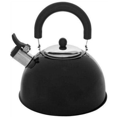 Secret de gourmet Czajnik z gwizdkiem na gaz, stal nierdzewna, 2l, kolor czarny