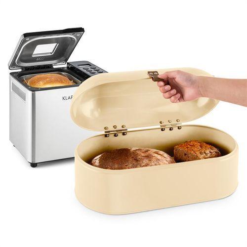 krümelmonster zestaw: automat do pieczenia chleba 550 w + chlebak 14,5 l marki Klarstein