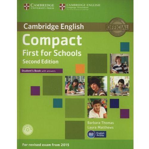 Compact First for Schools 2nd Edition. Podręcznik z Kluczem + CD, oprawa miękka