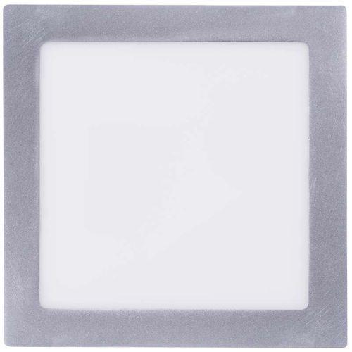 Emos kwadratowa lampa led, 18w, biały neutralny, srebrna