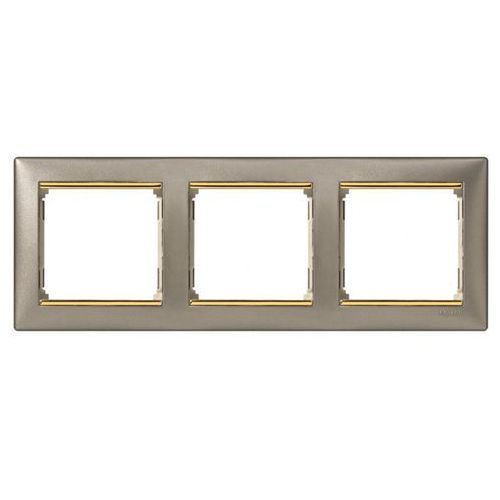 Ramka potrójna valena titnium/złoto 770363 marki Legrand