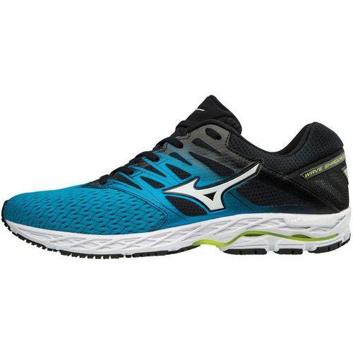 Mizuno wave shadow 2 buty do biegania mężczyźni niebieski/czarny uk 9,5   eu 44 2018 szosowe buty do biegania (5054698477861)