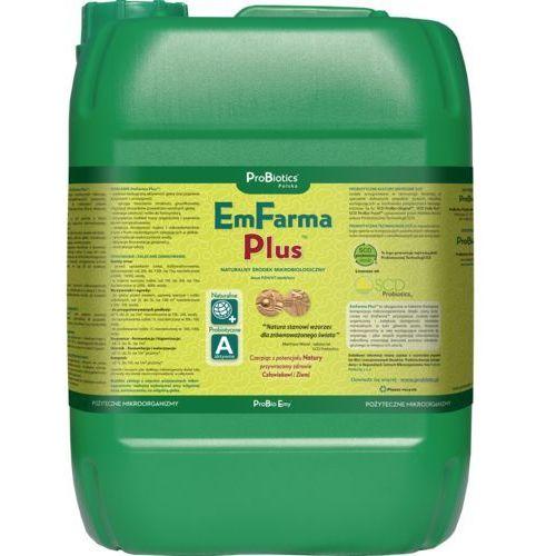 Emfarma plus 10 l. - szybki rozkład materii organicznej w glebie, w gnojowicy, w kompoście, itp. emfarma + resztki pożniwne, - żyzna gleba, - fermentacja gnojowicy i obornika, - eliminacja odorów marki Probiotics polska sp z o.o.