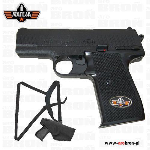 Pistolet hukowy Lexon 11 z kaburą i szelkami - 6 mm long, full metal
