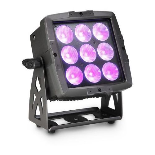 Cameo clflood600ip65 flat pro flood 600 ip65 - outdoor flood light 9 x 12 w rgbwa + uv led 6 w 1 - reflektor led w czarnej obudowie ip65