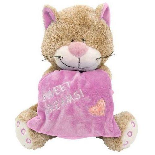 Beppe Kot z poduszką 18cm różowy (5906729638324)