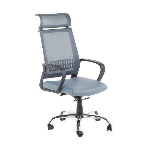 Krzesło biurowe niebiesko-szare regulowana wysokość leader marki Beliani
