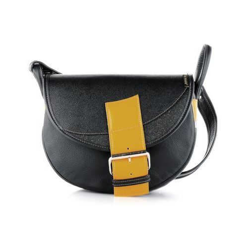 e63b5e2886cd0 Freshman mini czarna torebka skórzana na ramię marki Słoń torbalski