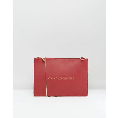 Johnny Loves Rosie On An Adventure Clutch Bag - Red