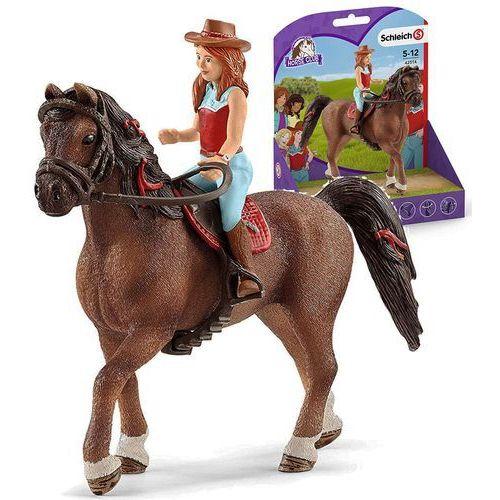 figurki - rudowłosa hannah i koń cayenne marki Schleich