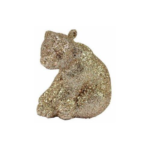 Tajemniczy ogród Zawieszka niedźwiedź 6 cm 3 szt. złoty