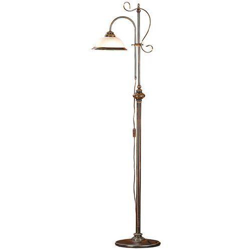 Lampa stojąca podłogowa klasyczna patyna i 1x60w e27 patyna / biały 212a/a1 marki Aldex