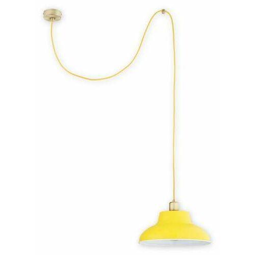 Lemir zts o2831 w1 pat + zol [s] lampa wisząca zwis 1x60w e27 patyna+żółty
