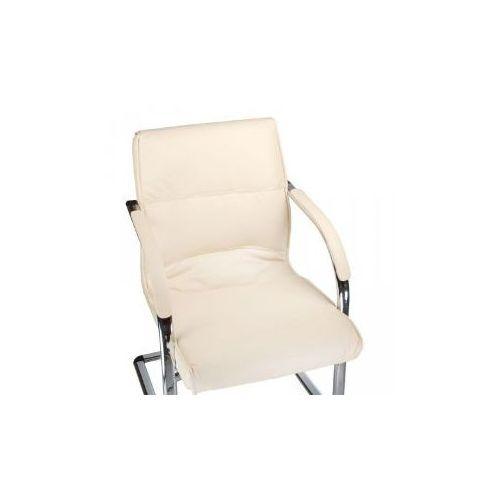 Fotel konferencyjny corpocomfort bx-3346 kremowy marki Vanity_b