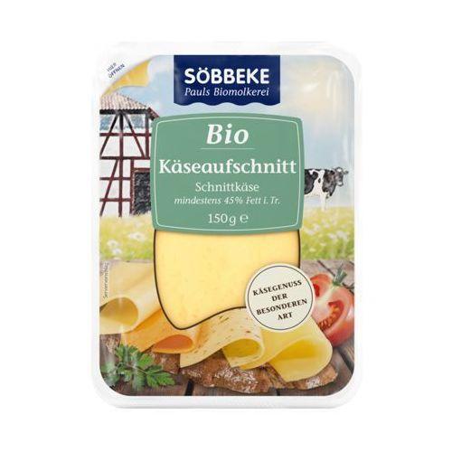 Mix serów w plastrach 45% tłuszczu bio 150 g - marki Sobbeke