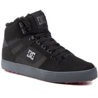Sneakersy DC - Pure High-Top Wc Wnt ADYS400047 Black/Grey/Red (XKSR)