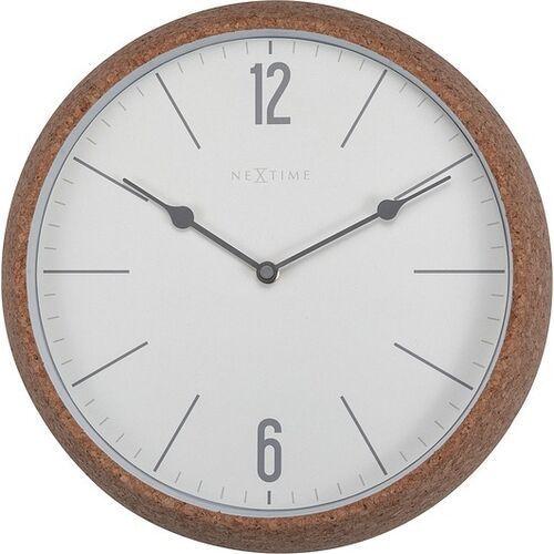 Zegar ścienny cork biały
