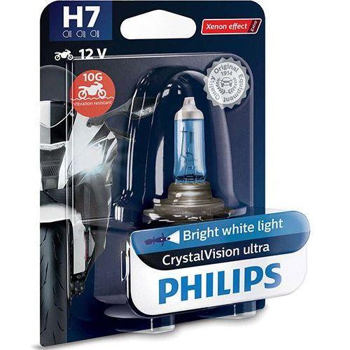 Philips® Żarówka motocyklowa h7 crystalvision ultra moto | 12v 55w px26d
