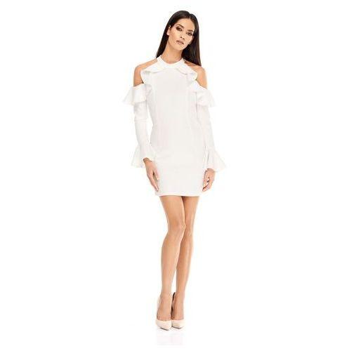 Sukienka Ava w kolorze kremowym, kolor beżowy