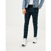 tailored trousers in green check - blue marki Weekday