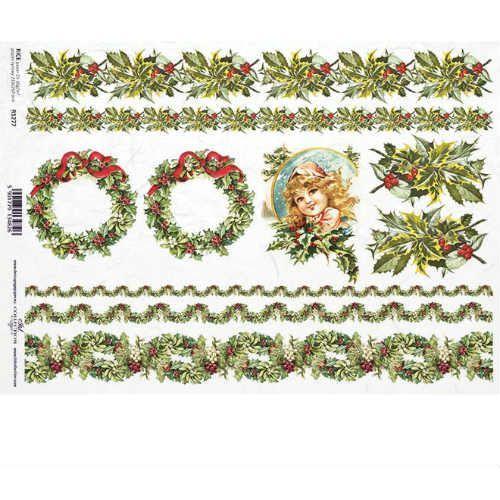 Itdcollection Świąteczny papier ryżowy 297x210 mm