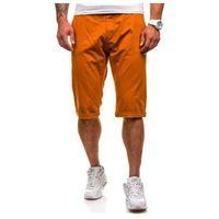 Krótkie spodenki męskie pomarańczowe Denley 209, kolor pomarańczowy