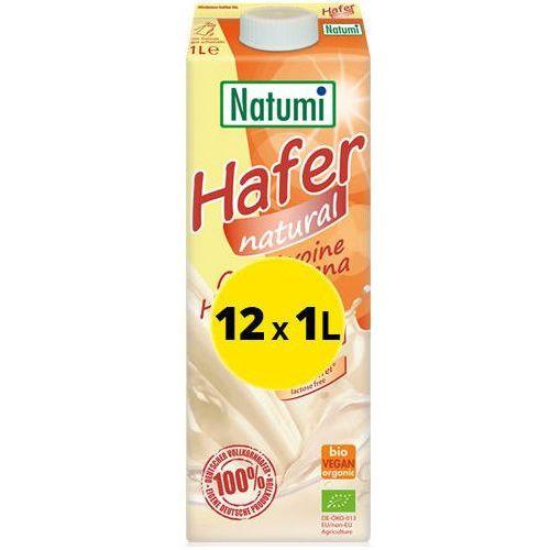- bezmleczny napój mleko owsiany naturalny 12x1l zestaw eko marki Natumi