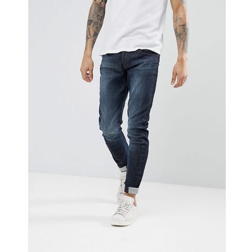 Esprit Slim Fit Jeans With Twisted Leg in Organic Cotton - Blue, kolor niebieski