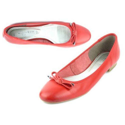Baleriny damskie Marco Tozzi 22128, kolor czerwony