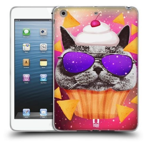 Etui silikonowe na tablet - Realistic Cats in Artificial Space GREY BRITISH CAT CUPCAKE AND NACHOS