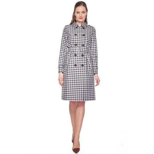 Długi płaszcz w kratę -  marki Bialcon