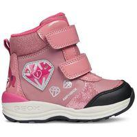 Geox dziewczęce buty zimowe za kostkę new gulp, 20, różowe (8058279500891)