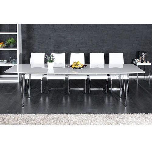 Stół rozkładany eurapa white 170-270cm - biały wysoki połysk marki Interior